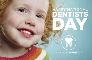 baby on national dentist's day